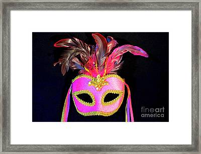 Mardi Gras No 4 Framed Print by Mary Deal