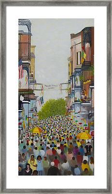 Mardi Gras On Bourbon Street Framed Print by Douglas Ann Slusher
