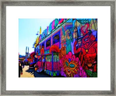 Mardi Gras Ride Framed Print by Tim Coleman