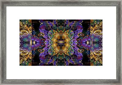 Mardi Gras Split Crop Framed Print