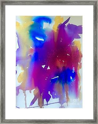 Mardi Gras Studio Abstract Framed Print by Ellen Levinson