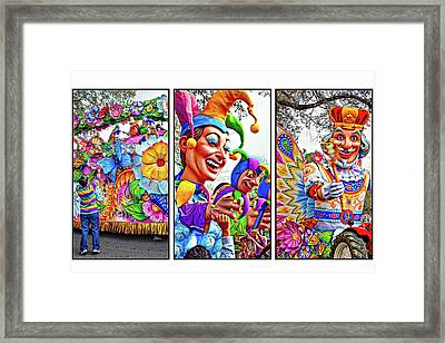Mardi Gras Triptych - Let The Good Times Roll Framed Print by Steve Harrington