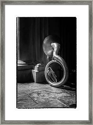 Mardi Gras Tuba At Jackson Square Framed Print