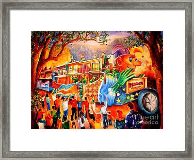 Mardi Gras With Endymion Framed Print