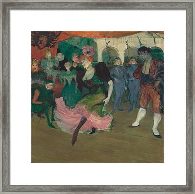 Marelle Lender Dancing In The Bolero In Chilperic Framed Print by Mountain Dreams