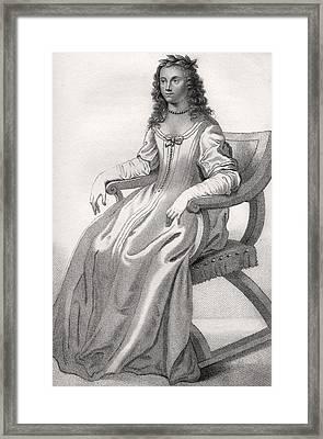 Margaret Cavendish Nee Lucas Duchess Of Framed Print by Vintage Design Pics