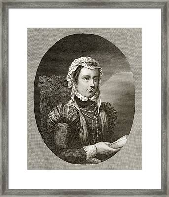 Margaret, Duchess Of Parma, 1522 To Framed Print by Vintage Design Pics