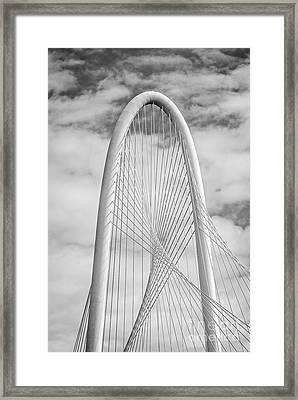 Margaret Hunt Hill Bridge Black And White Framed Print by Tod and Cynthia Grubbs