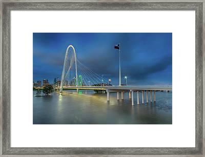 Framed Print featuring the photograph Margaret Hunt Hill Bridge Dallas Texas by Robert Bellomy