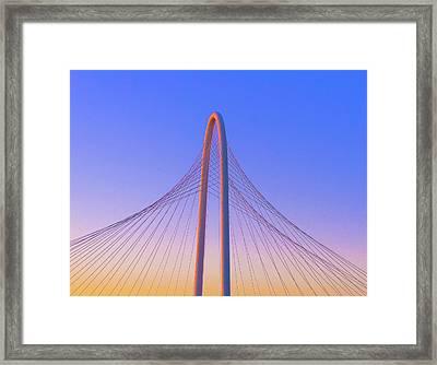 Margaret Hunt Hill Bridge In Dallas, Texas. Framed Print by Art Spectrum