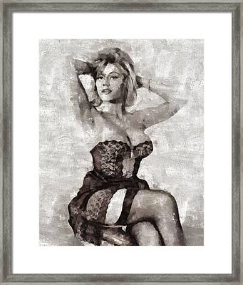 Margaret Nolan, Carry On Actress Framed Print by Mary Bassett