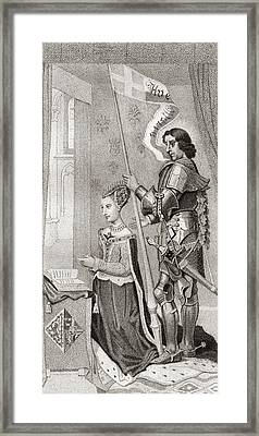 Margaret Of Denmark With St. Canute Framed Print by Vintage Design Pics