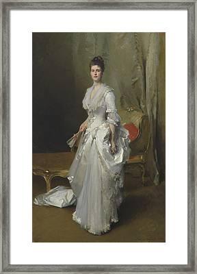 Margaret Stuyvesant Rutherfurd White Framed Print by John Singer Sargent
