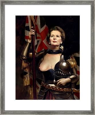 Margaret Thatcher Nude Framed Print by Karine Percheron-Daniels