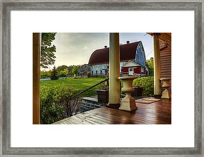 Framed Print featuring the photograph Margaretville Mountain Inn by Paula Porterfield-Izzo