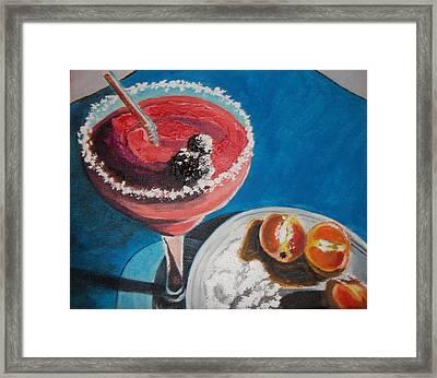 Margarita Anyone Framed Print by Terry Godinez