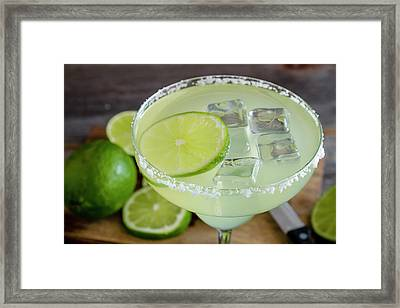 Framed Print featuring the photograph Margarita Close Up by Teri Virbickis
