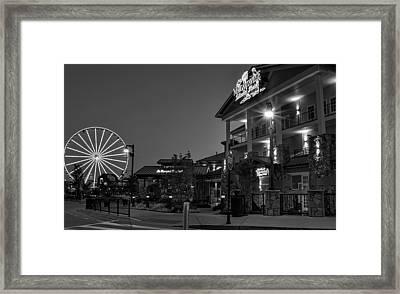 Margaritaville Island Hotel In Black And White Framed Print