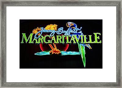 Margaritaville Neon Framed Print