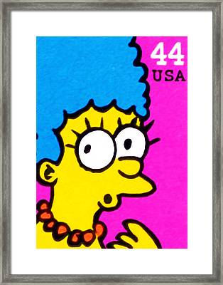 Marge Simpson Framed Print
