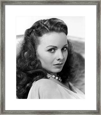 Margie, Jeanne Crain, 1946 Framed Print