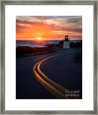 Marginal Way Ogunquit Sunrise Framed Print