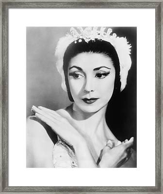 Margot Fonteyn 1919-1991 In 1960, When Framed Print by Everett