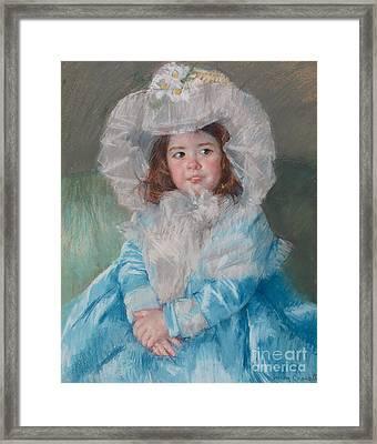 Margot Lefebre In Blue Framed Print