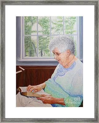 Framed Print featuring the painting Margret Lawson by Mike Ivey