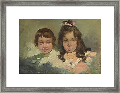 Maria And Joaquin Framed Print by Joaquin Sorolla