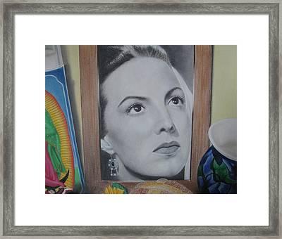 Maria Bonita Framed Print by Lynet McDonald