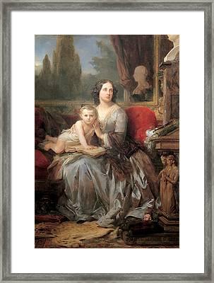 Maria Brignole-sale Duchess Of Galliera With Her Son Filippo Framed Print