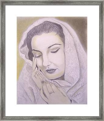Maria Callas  La Divina Framed Print by Oscar Arauz