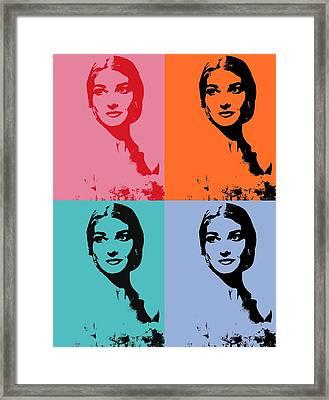 Maria Callas Pop Art Panels Framed Print