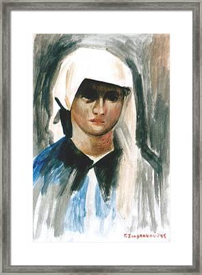 Maria Framed Print by George Siaba
