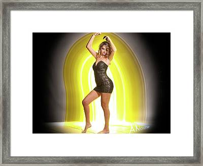 Maria Glow Framed Print by Andrew Nourse