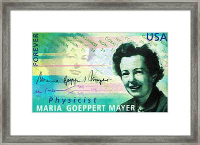 Maria Goeppert Mayer Framed Print by Lanjee Chee
