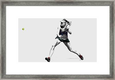 Maria Sharapova 3y Framed Print by Brian Reaves
