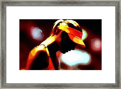 Maria Sharapova 5b Framed Print
