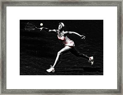 Maria Sharapova Extended Framed Print by Brian Reaves