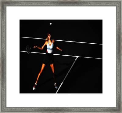 Maria Sharapova Focus Framed Print by Brian Reaves