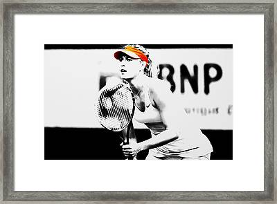 Maria Sharapova Stay Focused 2 Framed Print by Brian Reaves