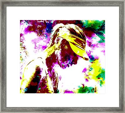 Maria Sharapova Paint Splatter 4c Framed Print by Brian Reaves