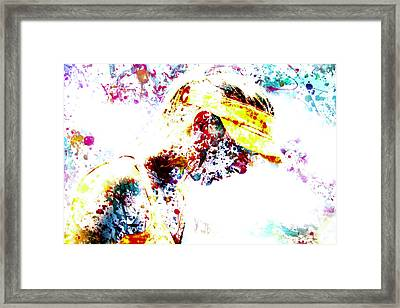 Maria Sharapova Paint Splatter 4p                 Framed Print by Brian Reaves