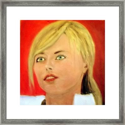 Maria Sharapova  Framed Print by Peter Gartner