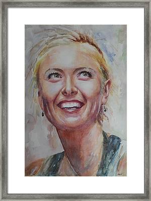 Maria Sharapova - Portrait 3 Framed Print by Baresh Kebar - Kibar