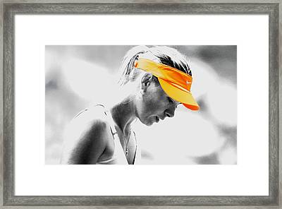 Maria Sharapova Stay Focused Framed Print by Brian Reaves