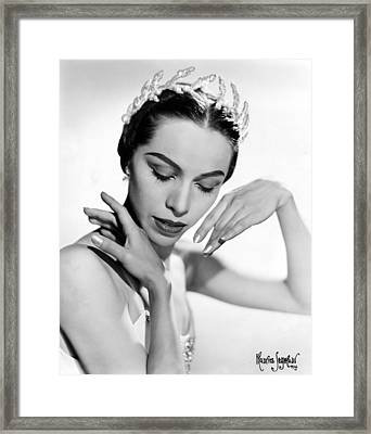 Maria Tallchief, Ballerina Framed Print by Everett