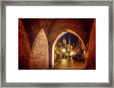 Mariacka By Night  Framed Print