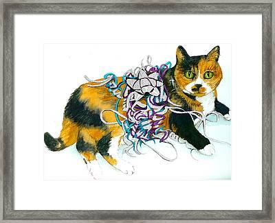Framed Print featuring the painting Mariah 1995-2009 by Lynn Babineau